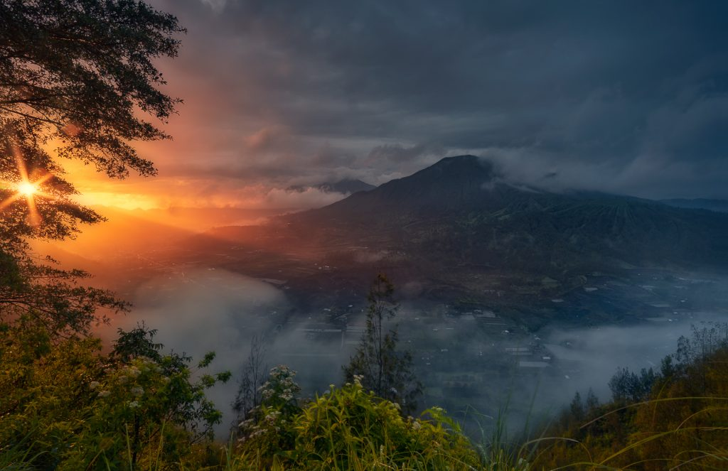 Misty Morning At Mount Agung