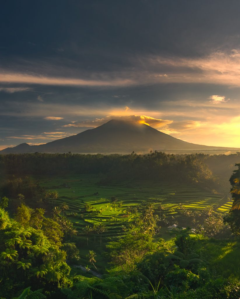 Peaceful Valley & Majestic Mount Agung