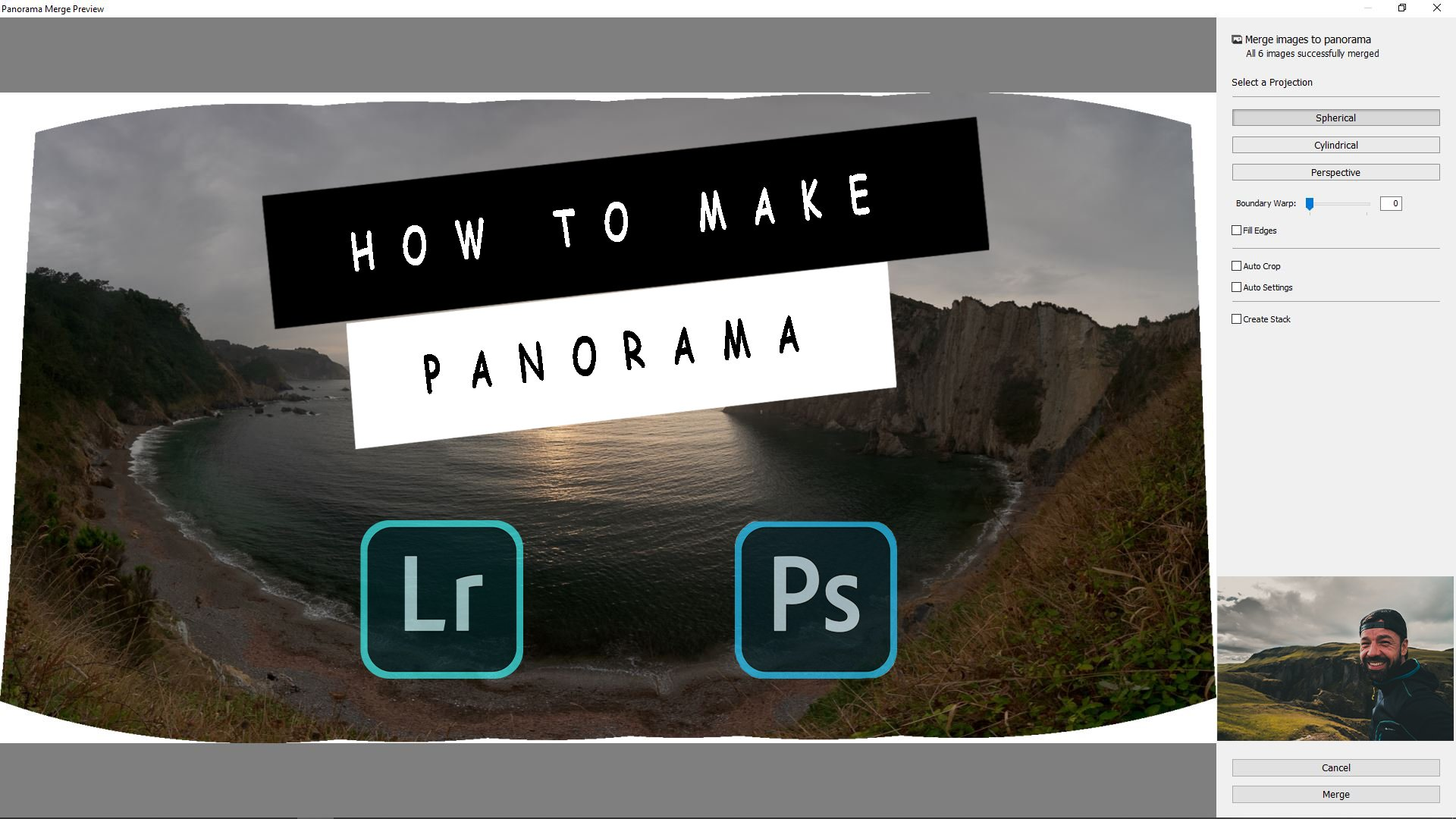 HOW TO STITCH PANORAMA WITH LIGHTROOM & PHOTOSHOP